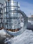 Металлическое колесо с грунтозацепами для электрифицированных дождевальных машин